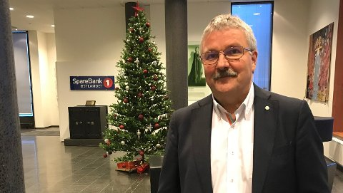 FORNØYD: Konsernsjef Richard Heiberg i Sparebank 1 Østlandet er fornøyd med at de store lokomotivene i Innlandet ser lyst på framtida. (Foto: Sparebank1 Østlandet)