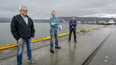 CRUISE: I juni 2020 skulle det være klart for cruisebåter i Rana. Svein Tore Nordhagen, Stig Johansen og Øystein Lorentzen på bildet. Arkivfoto: Øyvind Bratt