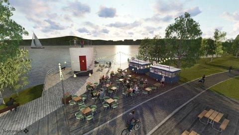 UTESERVERING: City Meet & Eat skal drive uteserveringen i Mjøsparken.