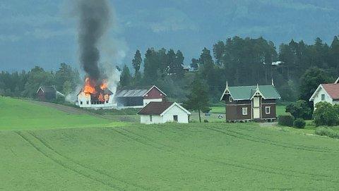ÅSA: Brannen i Åsa er en planlagt øvelse.