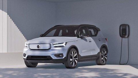 KOMMER: XC40 Recharge går snart i produksjon, i Norge er interessen stor for Volvos første elbil.