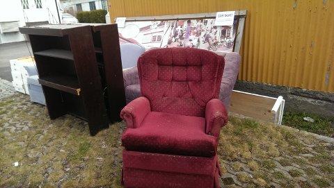FORSVANT RASKT: Møblene sto ikke ute lenger enn et par dager.