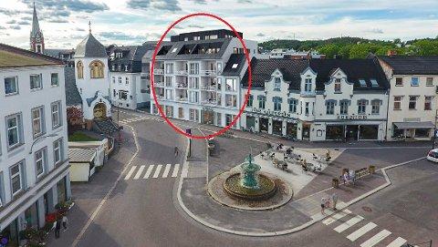 STOCKFLETHS GATE 1: Bare én av de 12 leilighetene i det kommende boligkomplekset på Chr. Hvidts Plass er ikke solgt. (Illustrasjon: Spir Arkitekter)