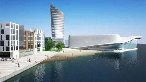 RÅDHUS: Det nye rådhuset skal ligge i den planlagte Havneparken.