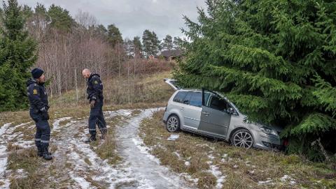 BILTYVERI: Tre biler ble i romjula stjålet fra et bilverksted på Ise. Her har politiet funnet igjen den ene.