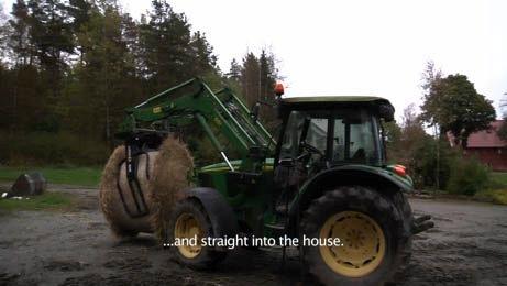Meteoritten fikk man vite traff traktoren.