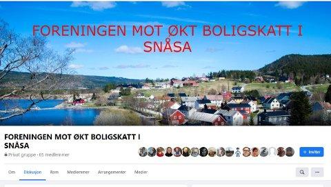 Forening: Facebook foreningen mot økt boligskatt i Snåsa hadde tirsdag formiddag 65 medlemmer.