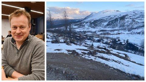 VIL HA SJEKK: – Me er usikre på om det er ei mindre endring eller ikkje, seier Arne Glenn Flåten (H) om detaljreguleringsplanen for Hodlekve-Rinden. Det er i Rindebakkane dei nye hyttene skal byggast.