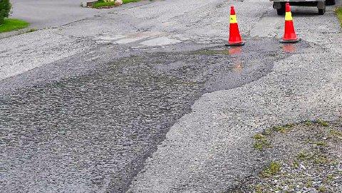 VANNLEKKASJE: Flere husstander i Porsgrunn er uten vann grunnet en vannlekkasje ved Tjernløkka.