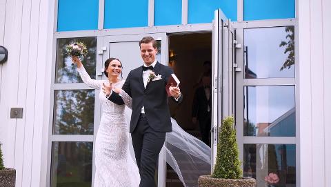BRYLLUP: Synne og Daniel giftet seg 8. juni
