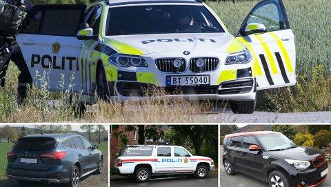Politiet i Norge har over 80 ulike bilmodeller i stallen sin. Se oversikten over de 30 mest populære. Foto: Scanpix/Broom/Illustasjonsfoto