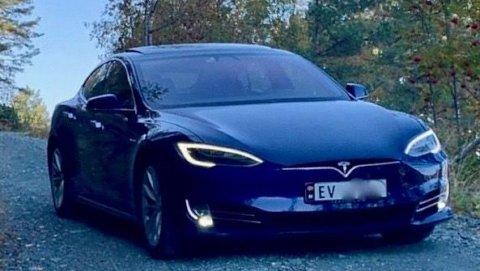 Marius fra Florø har lagt sin Tesla Model S ut til salgs, med en særdeles ærlig annonsetekst. Foto: Privat.