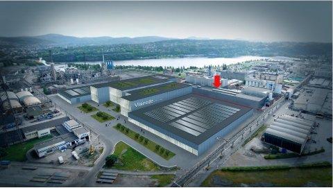ÅPNER SNART: Planen var at fabrikken skulle åpnes i 2023, men allerede i 2022 finner man Vianode i bygg 132 i Industriparken.