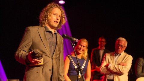 FIKK PRISEN: I 2012 fikk Fredrik Brattberg Ibsenprisen. - Den betyr mye når det gjelder eksponering i utlandet, sier han.
