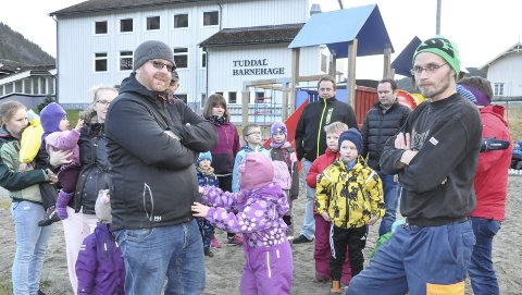 Satser: Tuddal mobiliserer for privatskole. Foran Ola Søgaard (til venstre) og Sondre Bondal i FAU-gruppa som inviterer til stiftingsmøte lørdag.