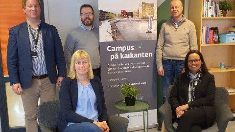 Sist uke var deler av prosjektgruppen samlet til møte i Kristiansund. Bak f.v.: Preben Irvung, Roland Mauseth og Dag Lervik. Foran f.v.: Ingvild D. Sæter og prosjektleder Monica Kjøl Tornes.
