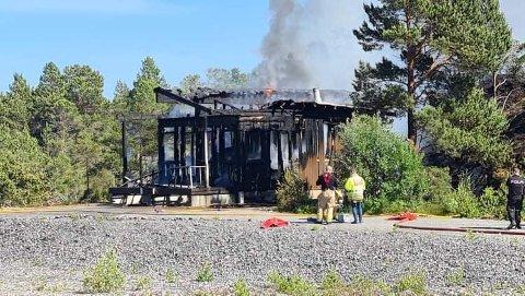 Et småhus på Nordlandet brant ned lørdag 3. juli.