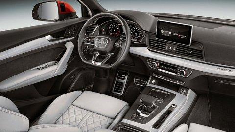 NYE MULIGHETER: Nye Q5kan blant annet leveres med Audis Virtual Cockpit. Dette er en 12,3-tommers skjerm som erstatter de tradisjonelle instrumentene.