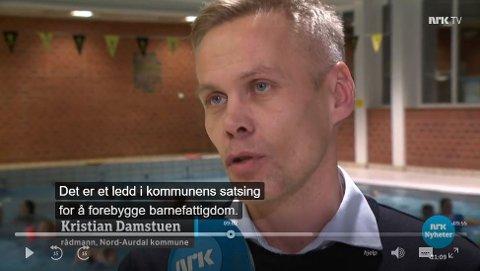God reklame: - En flott reklame for Nord-Aurdals innsats mot barnefattigdom, sier rådmann Kristian Damstuen, om NRK-innslaget onsdag kveld.