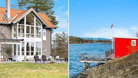 Den maritime drømmen på Malmøya, med egen strandlinje og sjøbod, kan bli din. Hvis du har 21,5 millioner kroner i boligbudsjett. Alle foto: Eie Eiendomsmegling