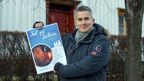 Inviterer: Jarle Stavik håper så mange som mulig tar turen til Jul på Leikvin for å komme i førjulsstemning.