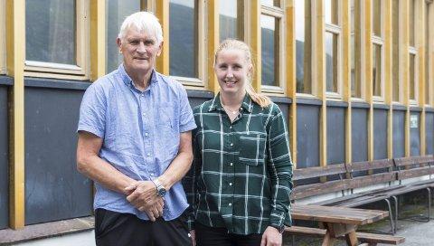 Idrettslærere: Kroppsøvingslærerne Bjarne Volden og Ingrid Watten Furu skal ha ansvaret for det nye breddeidrettsfaget ved Sunndal videregående skole.