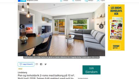 UVANLIG ANNONSE: Megleren anbefaler ikke andre å selge boliger fullt møblert.