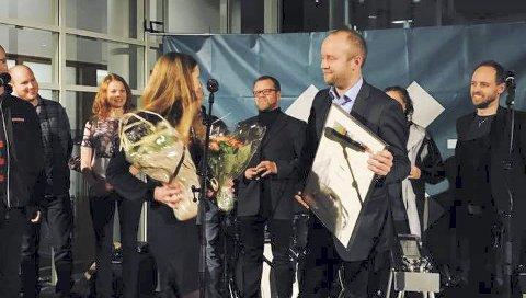 Prisvinnar: Jon Ingar Kjenes og Motitech er kåra til Årets Sosiale entreprenør 2017. Bildet er frå då Kjenes tok imot Etablererprisen i 2016. Arkivfoto