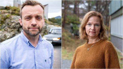 ALVER KOMMUNE: Kommunalsjef for samfunnsutvikling, Hogne Haugsdal og kommunalsjef for oppvekst, Kristin Moe.