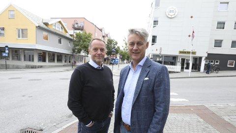 Sjefredaktør Jan-Eirik Hanssen og administrerende direktør Bjarne Holgersen.