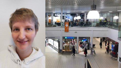 Nyåpning: Nå jobbes det fram mot åpning av ny butikk, og det er Anita Nystad (38) som skal drive det som blir det nyeste og siste tilskuddet til kjøpesenteret.