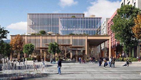 Slik er det nye kulturhuset illustrert.