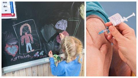 VIL STREKKE SEG LANGT: Så mange som mulig av de ansatte i skoler og barnehager skal være vaksinert innen skolestart, er målet til Eigersund kommune.