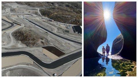 MOTORSPORT ELLER FRILUFTSLIV?: Politikerne i Sokndal skal denne måneden ta stilling til om Motorcenter Norway i Kroheia eller den Instagram-vennlige Nesvåghålo skal bli ett av kommunens turistfyrtårn.