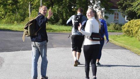 På tur: Ingrid Marie Randem og Jens Olav Randem fra 2017-turen.