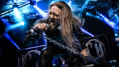 KARMØYGEDDON: Thomas Øvstedal og Cor Scorpii under Karmøygeddon Metal Festival 2018.