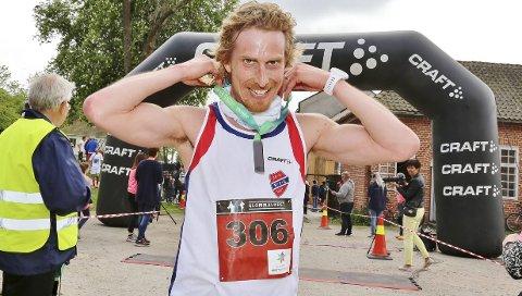 BESTE HERRE: Pål Oraug fra Varteig ble dagens beste herre, og forbedret fjorårets resultat – da kom han på tredjeplass.