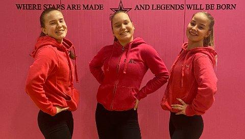 Marthe Tollefsrud (18), Nadine Carlsen (15), Maja Karlsen (18) er alle på landslaget i freestyledans.