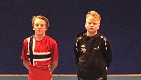 Noah Normann (13) og Iver Borgen.