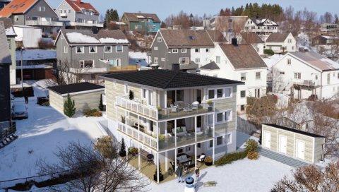 TRE LEILIGHETER: Slik blir det nye leilighetsbygget på Framnes.