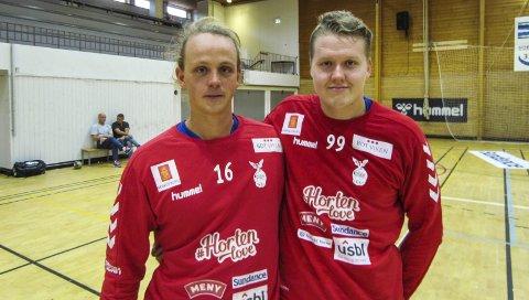 SOLID MÅLVAKTSSPILL: Simen Westby Johansen og Markus Rasch er i ferd med å finne serieformen. Begge spilte glimrende i treningskampen mot Bækkelaget onsdag.