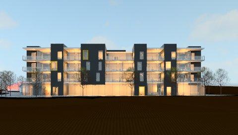 NYTT BYGG: Slik kan det nye bygget til Gjensidige Brannkasse i Nord-Odal bli seende ut