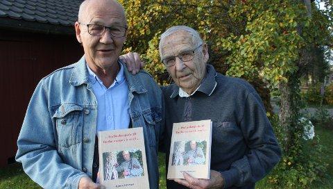 BOK OM LIVET: Terje Tønnessen i Kulturforlaget Brak gir ut Bjørn Ottesen sin siste bok. Bøkene til Ottesen har tidligere gått raskt unna, og i en alder av 92 år, kommer han med sin femte utgivelse. FOTO: KENNETH MELLEM