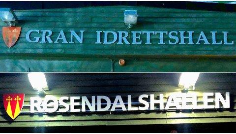 NAVNEBYTTE: Gran idrettshall er blitt til Rosendalshallen.