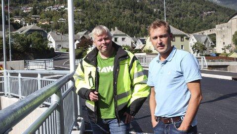 Godt samarbeid: Avdelingsingeniør i Odda kommune, Eirik Lia, og Øyvind Ribesen, dagleg leiar på Bohus.