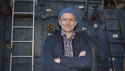 Nøgd direktør: Knut Markhus leiar Kraftmuseet som har stigande besøkstal og mange planar og prosjekt. Arkivfoto: Mette Bleken