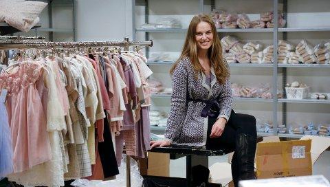 Kristine Vikse i 2016, da hennes eget klesdesign, Memini rundet 10 år.