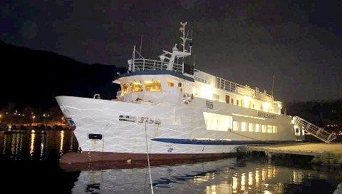 TIL Helgeland: Betelskipet seiler langs kysten hele året, og blir brukt som flytende fiskarheim/velferdsstasjon, møtebåt, eller til andre arrangementer. Når båten ligger ved kai, er det som regel anledning til å ta turen om bord.