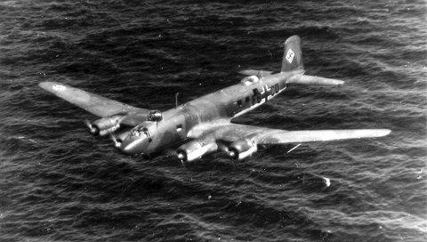 CondorEN: Det var et fly av denne typen, en Focke-Wulf 200 Condor, som havarerte med Erika og 50 andre om bord. Foto: Arkiv Rune Rautio