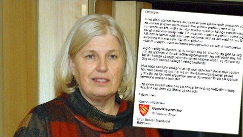 AVVISER KRITIKKEN: Gamvik-rådmann Ellen Beccer Brandvold hevder at hun ikke har pålagt noen å slette kommentarer på Facebook. Dette har skjedd av fri vilje.